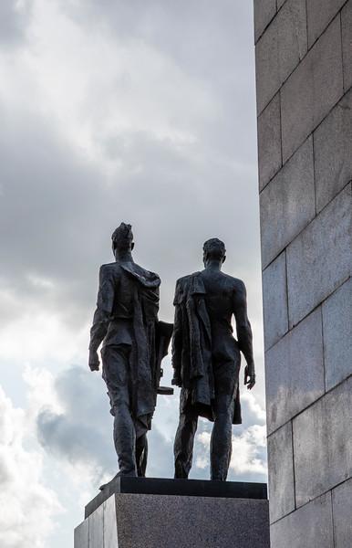 Monument Geroicheskim Zashchitnikam Leningrada in St Petersburg, Russia