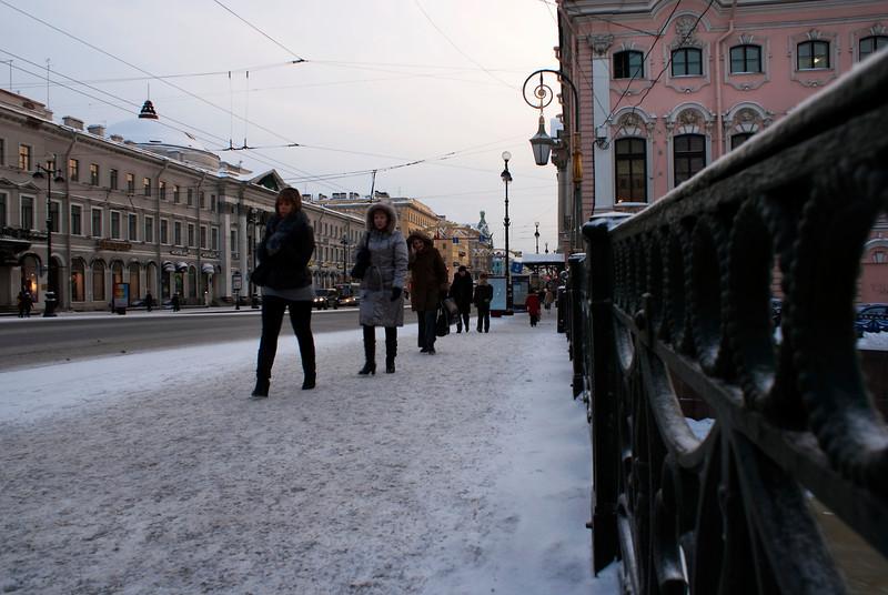 NEVSKI PROSPECT. MOJKA BRIDGE. ST. PETERSBURG. RUSSIA.