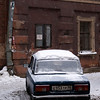OLD CAR. POCHTAMTSKAYA UL. ST. PETERSBURG. RUSSIA.