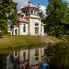 Asian Pavilion in the park of Catherine's Palace in Pushkin, St Petersburg, Russia