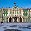 THE BAROQUE FACADE OF THE WINTER PALACE. THE HERMITAGE. ST. PETERSBURG.