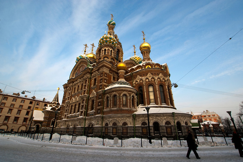 THE CHURCH OF THE SAVOUR ON SPILLED BLOOD. ST. PETERSBURG.