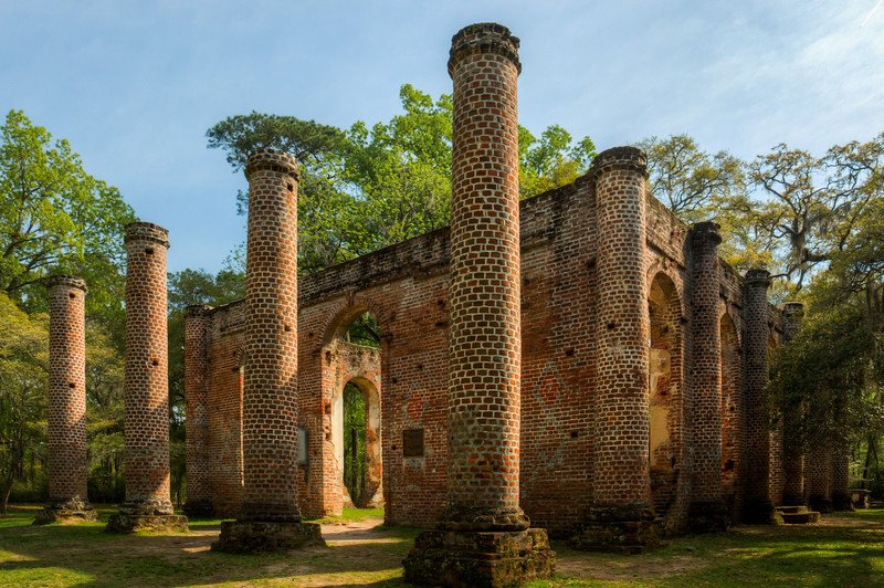 """Old Sheldon Church Ruins"""