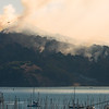 October 2008 Fire at Angel Island; helicopter dropping water on fire.
