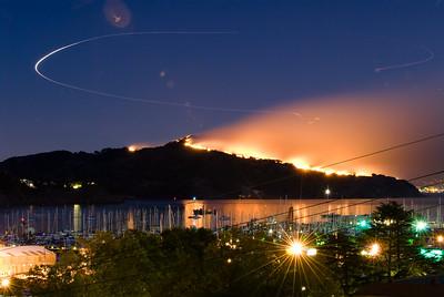 October 12 2008 Angel Island Fire