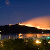 October 2008 Fire at Angel Island; helicopter circles island