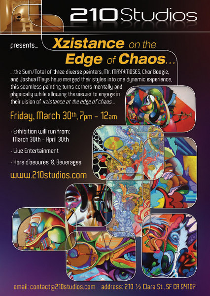 210studio opening event, Xzistance on the Edge of Chaos show!