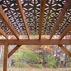 Cut Metal Roof Pergola
