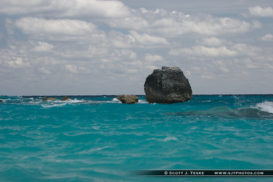 bermuda boulder in the ocean