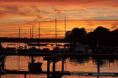 sunset on sturgeon bay 2