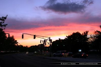 Sunset at Short Hills Mall