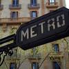 METRO ENTRANCE. EL EIXAMPLE. BARCELONA.