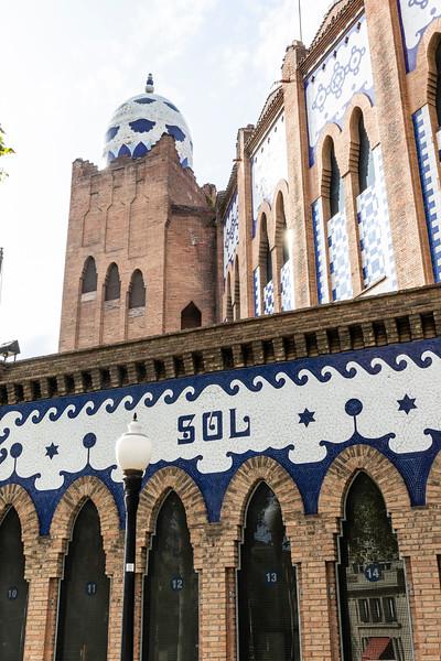 El Monumental bull fighting stadium in Barcelona, Catalonia, Spain, Europe