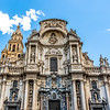 Facade of the cathedral church of Saint Mary in Murcia, Spain, Europe