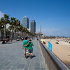 BARCELONA.BARCELONETA WITH TORRE MAPFE AND EL PEZ.