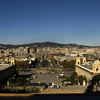 BARCELONA. VIEW FROM THE MONTJUIC AT PLAZA ESPANA.