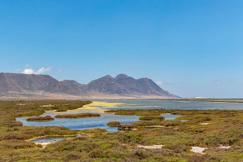 Landscaoe of Cabo de Gata in Andalusia, Spain