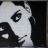 GRAFFITY OF A WOMAN'S FACE [2]. EL BORNE. BARCELONA.