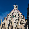 BARCELONA. FACADE OF THE SAGRADA FAMILIA.