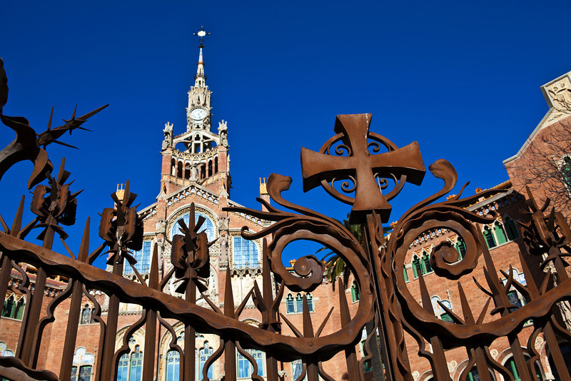 BARCELONA. CATALUNYA. SPAIN. HOSPITAL SANT PAU.