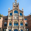 BARCELONA. CATALONIA. FACADE OF HOSPITAL SANT PAU.