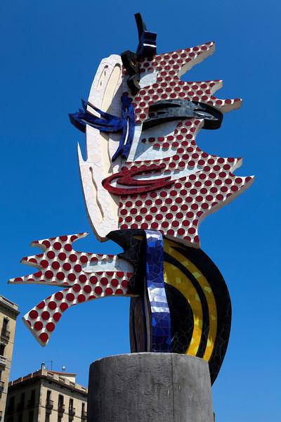 'BARCELONA HEAD' BY ROY LICHTENSTEIN [1992]. POP ART. BARCELONA. SPAIN.