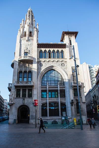 CATALONIA. BARCELONA. CAIXA DE PENSIONS DE BARCELONA SAVINGS BANK. [ENRIC SAGNIER].