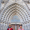 Giants in front of the Cathedral of Barcelona, Catalonia, Spain - Europe