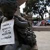 BARCELONA [BCN]. DEMONSTRATIONS AT PLAZA CATALUNYA. [5]