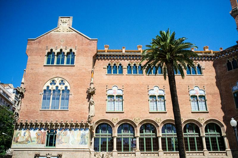 BARCELONA. CATALONIA. FACADE OF HOSPITAL SANT PAU [II].
