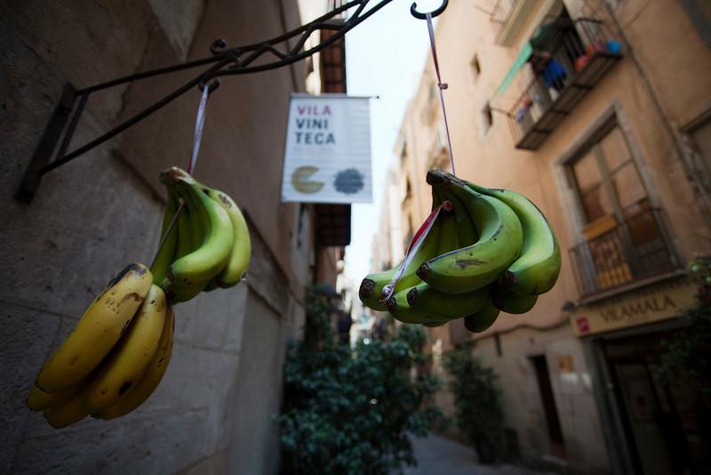 BANANAS IN EL BORNE. BARCELONA. CATALUNYA. SPAIN.