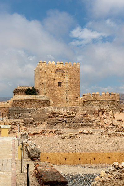 Interior of the Alcazaba of Almería, in Andalusia, southern Spain, Europe