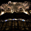 CASA BATLLO AT NIGHT. ANTONI GAUDI.  BARCELONA. SPAIN.