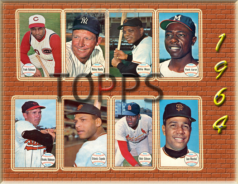 1964 TOPPS LARGE HOFERS