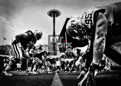 Sports Photography  - Huskies Spring Game under the Needle