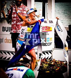 The Women's Winner, MIRINDA CARFRAE of the 2014 Ironman World Championship