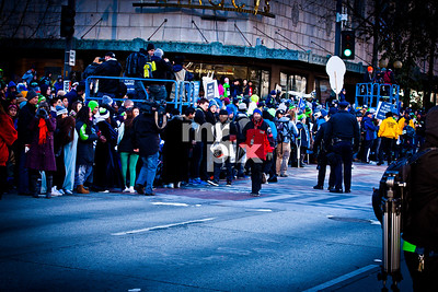 Seahawks Parade, on 4th Ave. shot on 2-5-14
