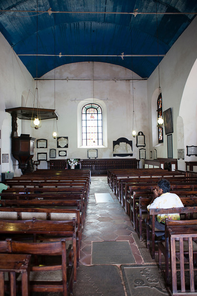 GALLE FORT. INTERIOR OF THE GROOTE KERK [DUTCH REFORMED CHURCH].  [1]