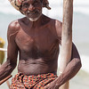 MIRISSA. SOUTH SRI LANKA. PORTRAIT OF A STILT FISHERMAN.