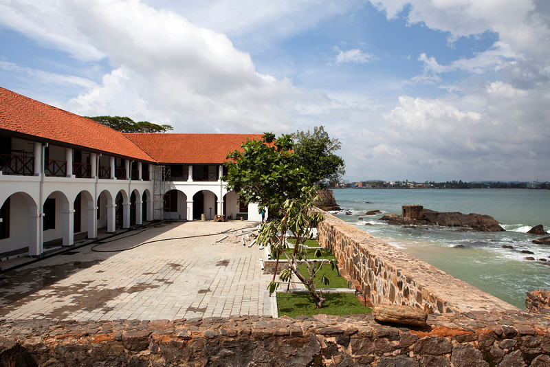 GALLE FORT. DUTCH FORTRESS IN GALLE. AUORA BASTION. SOUTH SRI LANKA.