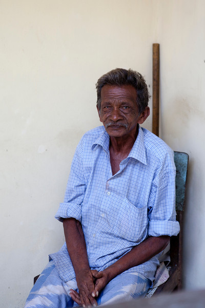 GALLE FORT. PORTRAIT OF AN OLD MAN.
