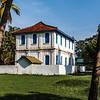 Exterior of a white colonial building in Anuradhapura, Sri Lanka, Asia