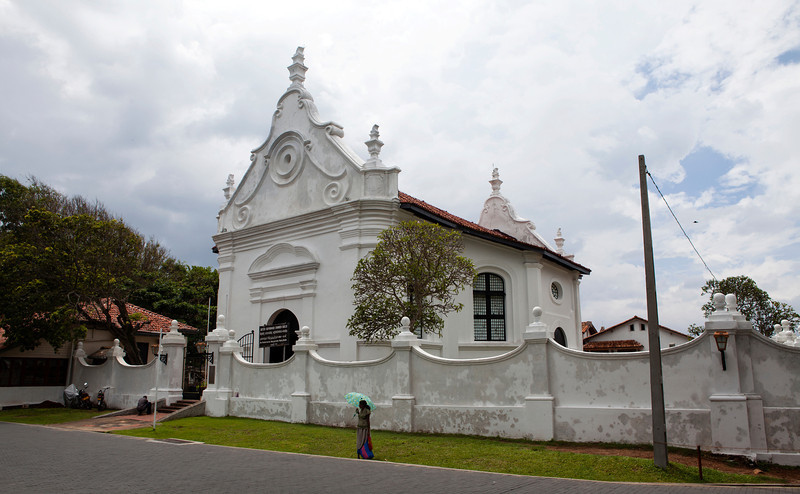 GALLE FORT. FACADE OF THE GROOTE KERK [DUTCH REFORMED CHURCH].