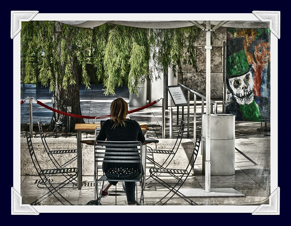 SITTING ALONE AT LACMA