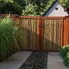 Redwood & Bamboo driveway gates