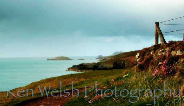 """Fence on the Sea""  St. David's Head © Copyright Ken Welsh"