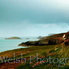 """Fence on the Sea""<br /> <br /> St. David's Head © Copyright Ken Welsh"