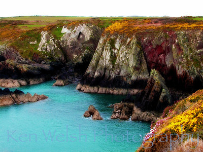 """""""Jagged Beauty""""  St. David's Point, Wales © Copyright Ken Welsh"""