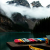 """The Lifting Fog"" <br /> <br /> Sacred Places of Earth:  Moraine Lake (Valley of the Ten Peaks)  <br /> © Copyright Ken Welsh"