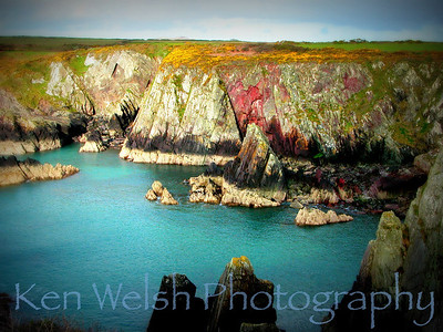 """Geology of Color""  St. David's Head, Wales © Copyright Ken Welsh"